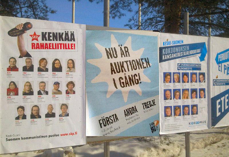 IStalous.fi - 2011/ 04/20 - Kokoomus satsasi 45 000 euroa Palolaan Keski-Suomessa - Ala-arvoista ...